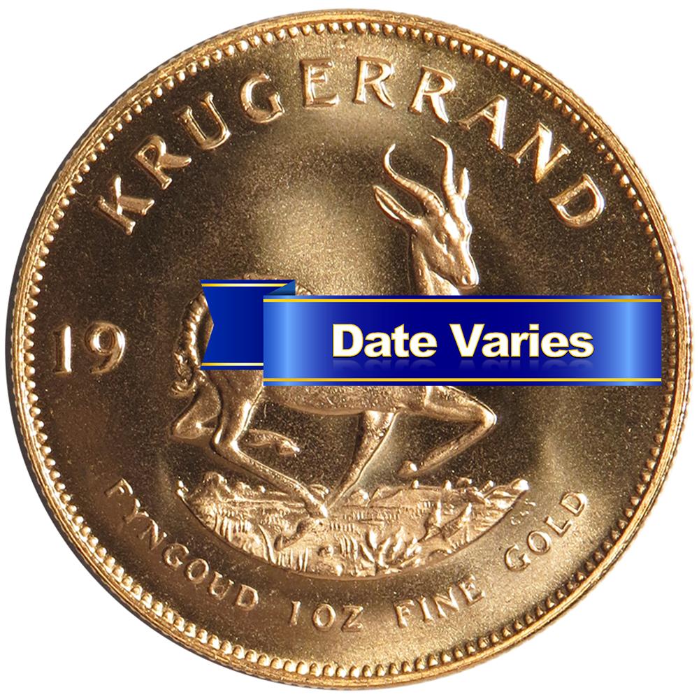 South African Gold Krugerrand 1 Oz Random Year