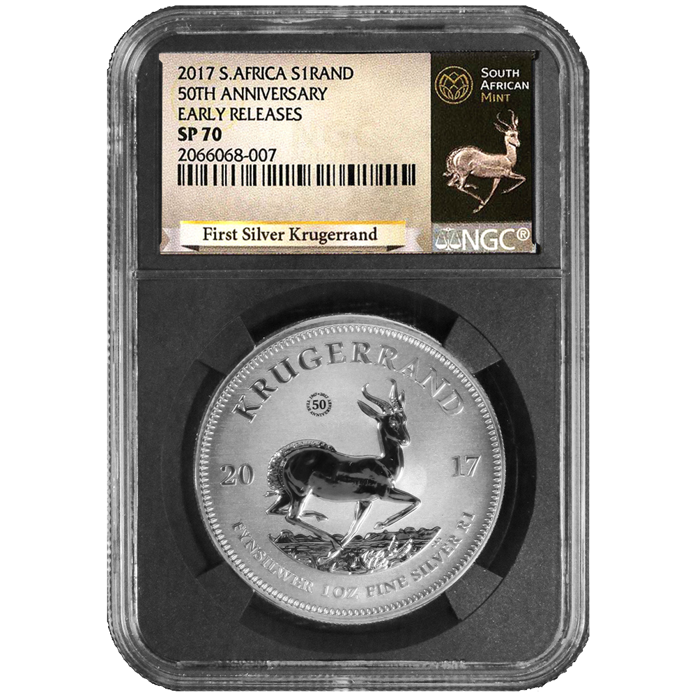 2017 South African Silver Kruggerand NGC SP70