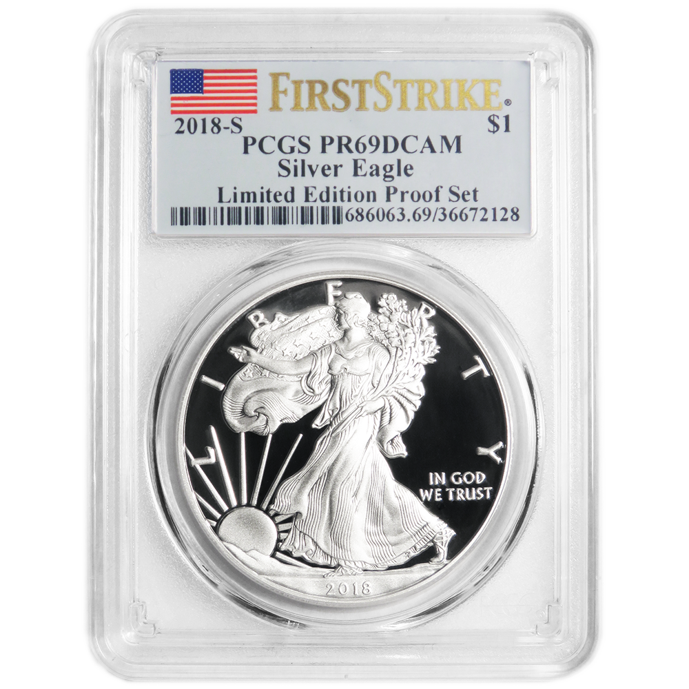 2019-S Limited Edition Proof Set $1 American Silver Eagle NGC PF70UC Trolley ER
