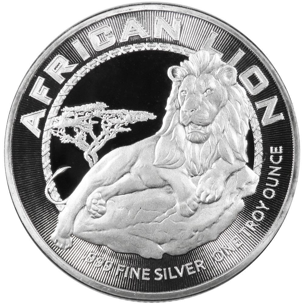 2017 $2 Niue Silver African Lion .999 1 oz Brilliant Uncirculated | eBay