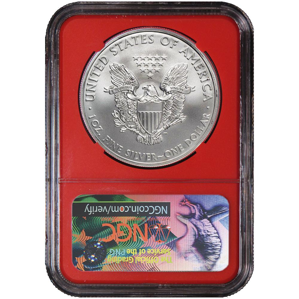 2019 $1 American Silver Eagle NGC MS70 FDI Black Label Red Core