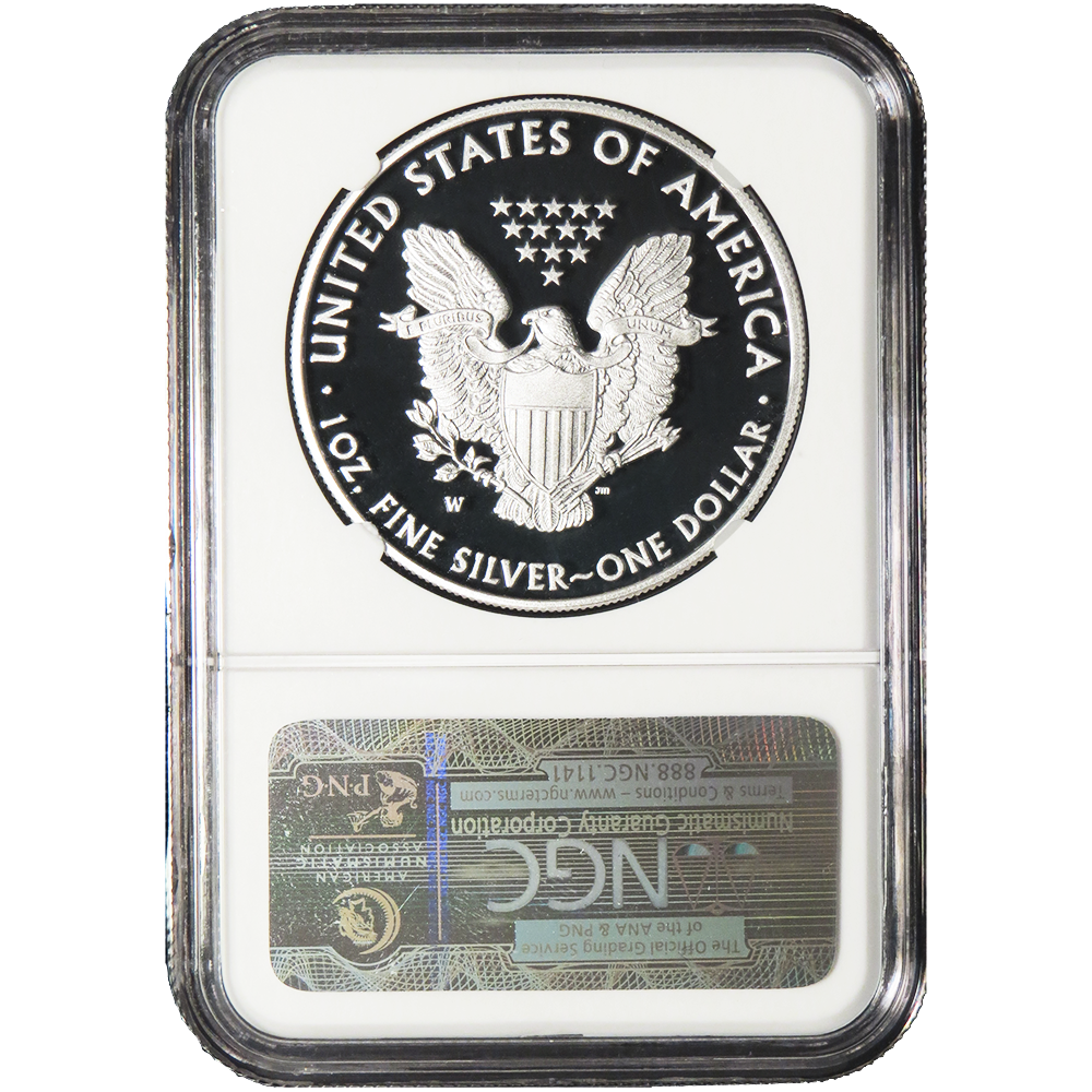 2016-W Proof $1 American Silver Eagle NGC PF69UC Early Releases ALS Label
