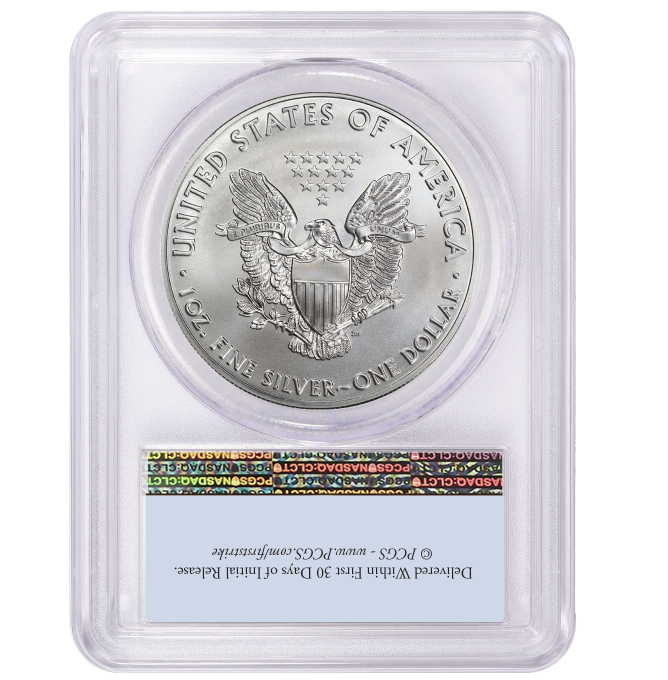 2020 (P) $1 American Silver Eagle PCGS MS69 Emergency Production FS Flag Label 2