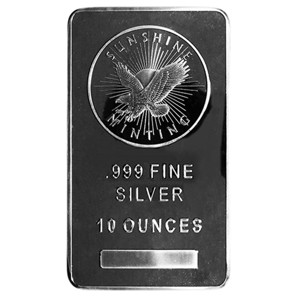 10 Troy Oz Sunshine Mint 999 Fine Silver Bar Mint Mark Si Sealed Ebay