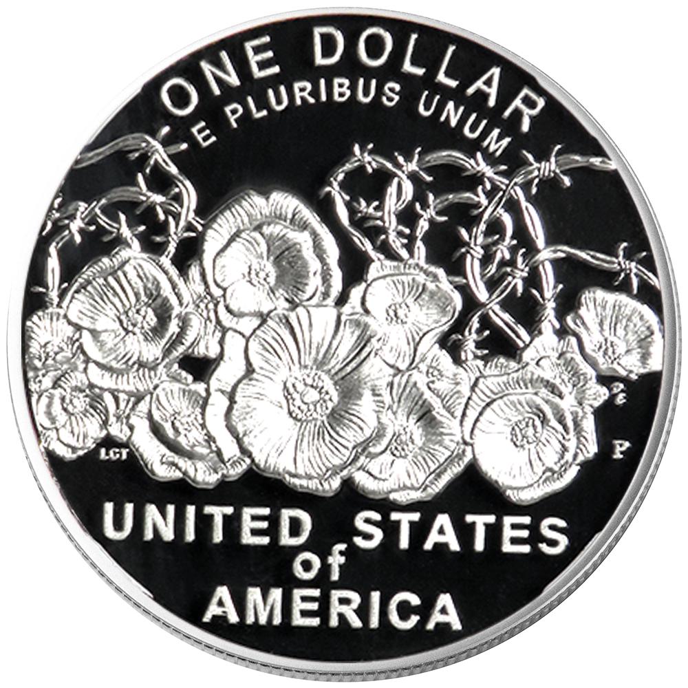 Set Navy Medal OGP /& COA No Coi 2018 Proof $1 World War I Centennial Silver 2pc