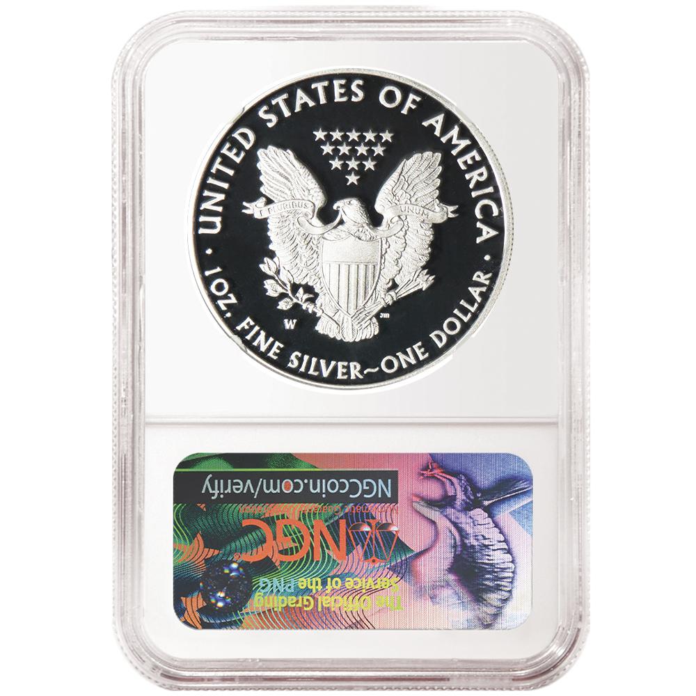 2018-W Proof $1 American Silver Eagle Congratulations Set NGC PF69UC Blue ER Lab