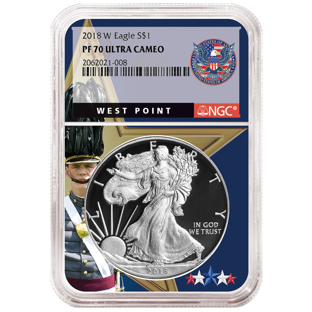 2018-W Proof $1 American Silver Eagle NGC PF70UC West Point Core