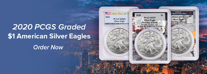 2020 $1 American Silver Eagle Graded