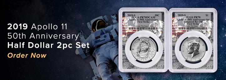 Apollo 11 Proof Half Dollar set