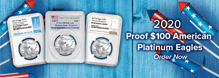 2020 Proof $100 American Platinum Eagle