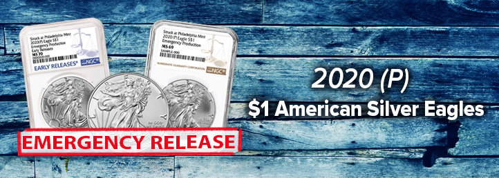 2020 (p) Emergency Release $1 American Silver Eagle